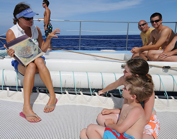 Marine life talk on Hawaiian Ocean Sports snorkel cruise