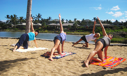 Yoga on the beach with Hawaii Ocean Sports