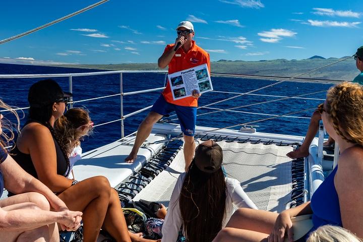 Marine life talk on Hawaiian Ocean Sports snorkel cruise