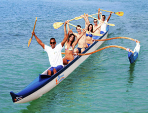 Outrigger Canoe Rides - Hawaii Ocean Sports