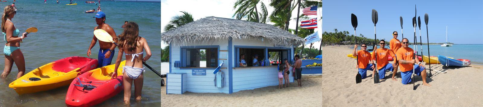 Beach Toys at Anaeho'omalu Bay - Hawaii Ocean Sports