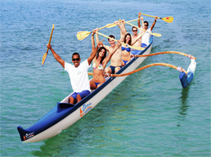 Beach Blasts - Outrigger Canoe Rides - Hawaii Ocean Sports