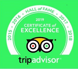 Trip Advisor Certificate of Excellence Hall of Fame