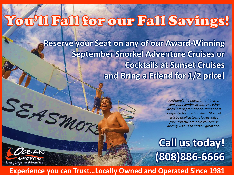 September Snorkel Sail Sale