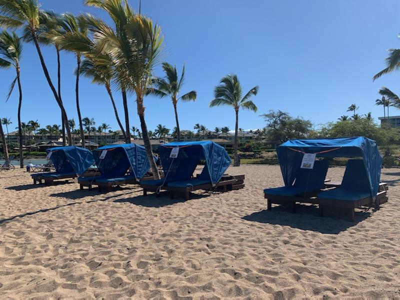 Ocean Sports cabana rental at A'bay